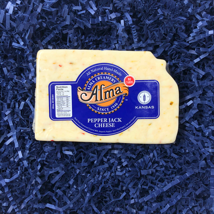 Kansas Cut Pepper Jack Cheese - 1 lb - Alma Cheese