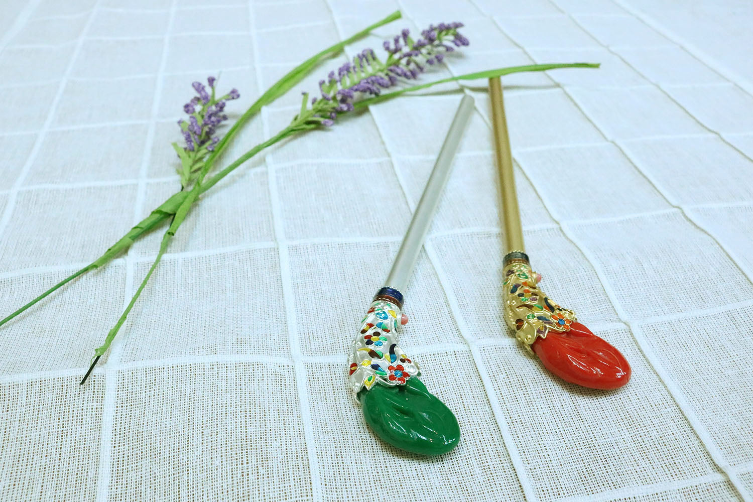 Korean Traditional Ornamental Hair pin(Binyeo) - LEEHWA WEDDING