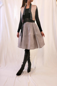 Heather Grey Wrap Skirt