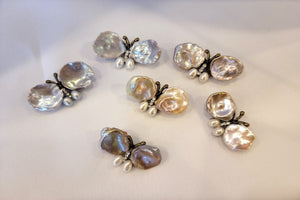 Mother of Pearl Butterly Brooch