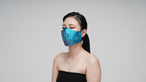 Teal Satin Mask