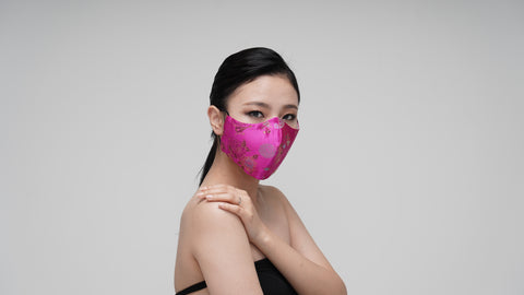 Pretty Magenta Satin Mask