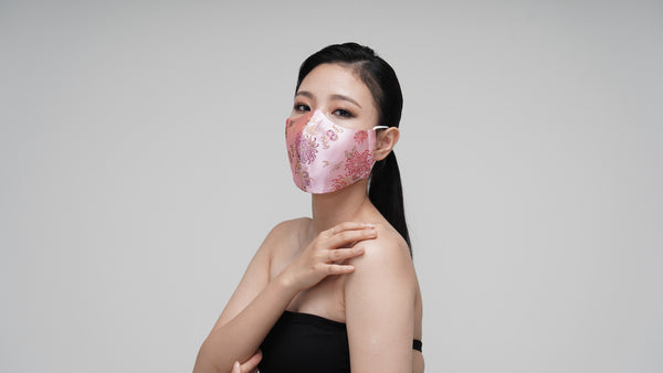 Pink Rose Satin Mask