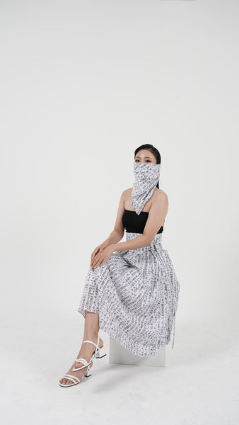 Korean Letters Scarf and Skirt