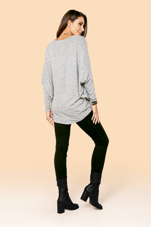 H.Grey Solid Dolman Top STYLE JP02H