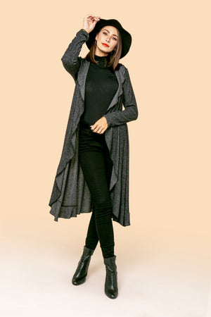 Charcoal Long Cardigan STYLE: JP99R