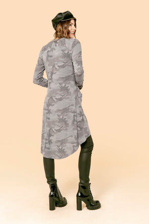 Camo Pocket Grey Duster STYLE: P16C3