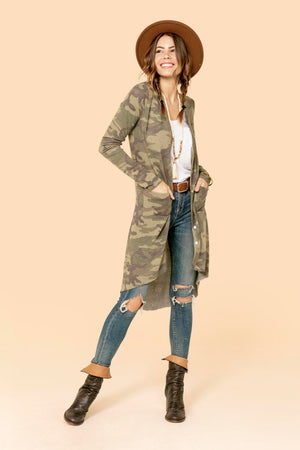 Camo Pocket Olive Duster STYLE: P16C3