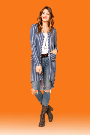 Blue Stripe Duster STYLE: P16S4
