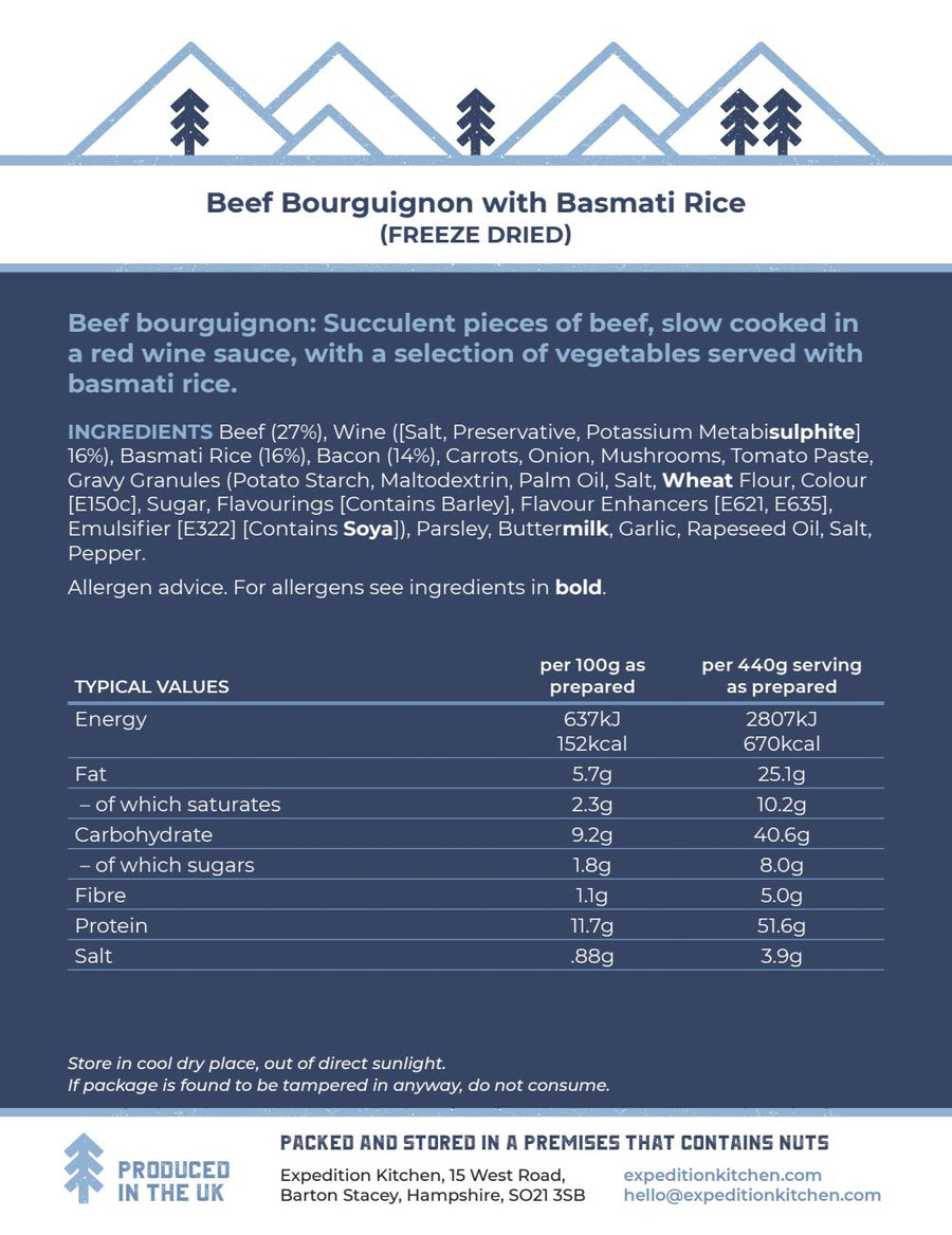 Beef Bourguignon with Basmati Rice
