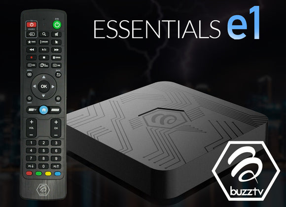 BuzzTV Essentials e1 HD IPTV Box
