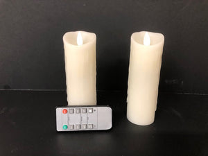 "Streamline Flameless Candle Set 2.2"" x 6"" with Realistic Flickering Wick and Wax Dripping - Hip and Trendy Home Decor & More"