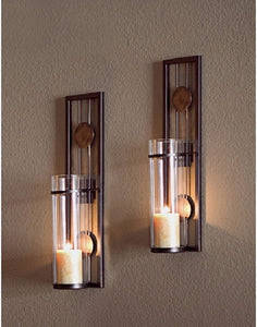 Streamline Sales Metal Candle Sconce Set,  perfect wall decor for your home - Hip and Trendy Home Decor & More