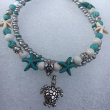Load image into Gallery viewer, Vintage Double Beaded Turtle Starfish Boho Anklet - Hip and Trendy Home Decor & More