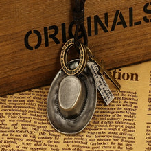 Load image into Gallery viewer, genuine leather male necklace 2019 high quality handmade cowhide men pendent retro charming jewelry resizable - Hip and Trendy Home Decor & More