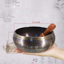 Load image into Gallery viewer, Tibetan Meditation Singing Bowl Nepalese Buddhist Tibetan Chanting Yoga Bowl Buddhist Sound Therapy Bowl Copper Religion Carft - Hip and Trendy Home Decor & More