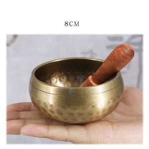 Tibetan Meditation Singing Bowl Nepalese Buddhist Tibetan Chanting Yoga Bowl Buddhist Sound Therapy Bowl Copper Religion Carft - Hip and Trendy Home Decor & More