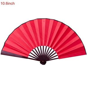 10.6 Inch/13 Inch Silk Cloth Blank Chinese Folding Fan Wooden Bamboo Antiquity Folding Fan For Calligraphy Painting - Hip and Trendy Home Decor & More
