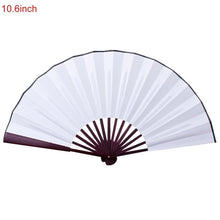 Load image into Gallery viewer, 10.6 Inch/13 Inch Silk Cloth Blank Chinese Folding Fan Wooden Bamboo Antiquity Folding Fan For Calligraphy Painting - Hip and Trendy Home Decor & More