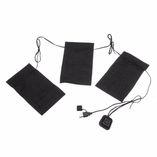 8/5/3pcs USB Electric Heated Jacket Heating Pad 3 Gear Adjustable DIY Heated Clothing Carbon Fiber Heated Clothes Pad Dropship - Hip and Trendy Home Decor & More
