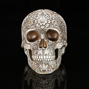 Home Decor Resin Craft Plum Blossoms Sculptures Garden Statues personality Art Carving Statue Medical Model Human Skull - Hip and Trendy Home