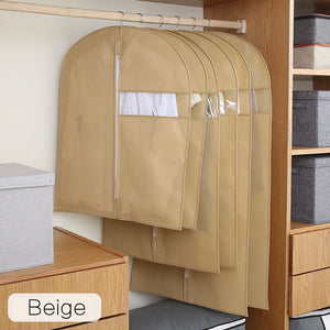 Non-woven Clothes Dust Cover Fabric Case for hanger Hanging-type Coat Suit Protect Storage Bag Wardrobe Organizer hanger - Hip and Trendy Home Decor & More