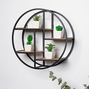 Nordic Iron Storage Rack Shelf Wall Hanging Ornaments Geometric Figure Home Wall Decoration Sundries Key Flower Pot Album Holder - Hip and