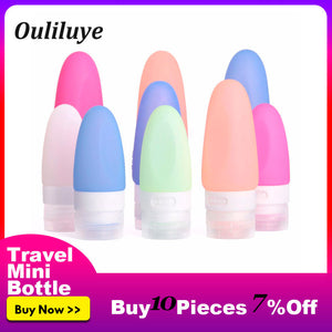 Travel Shampoo Bottles Mini Portable Silicone Shampoo Shower Gel Soap Dispenser Bathroom Lotion Sub-bottling Tube Empty Bottles - Hip and Trendy Home Decor & More