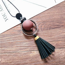 Load image into Gallery viewer, Bohemian Geometric Wood Handmade Vintage Tassel Long Sweater Chain Necklace Fashion Women Jewelry Accessories - Hip and Trendy Home Decor & More