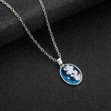 Load image into Gallery viewer, 2019 Blue Sky White Clouds Pattern Pendant Necklace Handmade Resin Ball Shape for Moon Shape Pendant for Women Men Fashion Gift - Hip and Trendy Home Decor & More