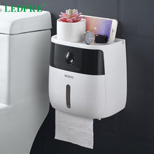 Load image into Gallery viewer, LEDFRE plastic toilet paper holder bathroom double paper tissue box wall mounted paper shelf storage box toilet dispenser - Hip and Trendy Home Decor & More