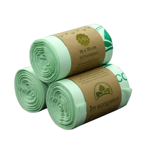 50pcs Kitchen Environmentally Biodegradable Garbage Bags Garbage Bags Compostable Bags Degradable Garbage Bags - Hip and Trendy Home Decor & More