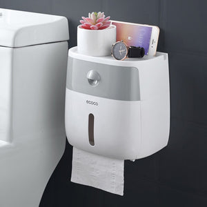 LEDFRE plastic toilet paper holder bathroom double paper tissue box wall mounted paper shelf storage box toilet dispenser - Hip and Trendy Home Decor & More