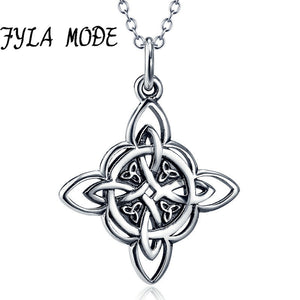 FYLA MODE Handmade Celtics Pendant Antique 100% Sterling Silver Totem Necklace Cross Viking Jewelry For Men Gift - Hip and Trendy Home Decor & More