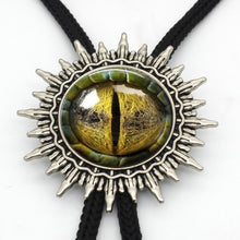 Load image into Gallery viewer, BOLO-0019 New Arrival Dragon Eye Cowboy Bolo Tie Handmade Glass Dome Sauron Eye Jewelry Glass Cabochon Neck Tie - Hip and Trendy Home Decor & More