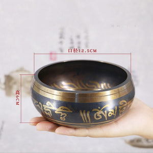 SDR Tibetan Bowl Singing Bowl Decorative-wall-dishes Home Decoration Decorative Wall Dishes Tibetan Singing Bowl - Hip and Trendy Home Decor & More