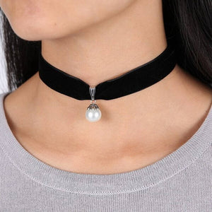 Handmade Velvet Lace Vintage Choker Necklace For Women Collar Torques Neck Jewelry Black Boho Stretch Yin Yang Charm Gothic Punk - Hip and Trendy Home Decor & More