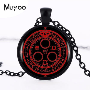 1pcs/lot Hot Sale Silent Hill Halo Of The Sun Logo Pendant Necklace Handmade Vintage Round Black Necklace Women Jewelry HZ1 - Hip and Trendy Home Decor & More