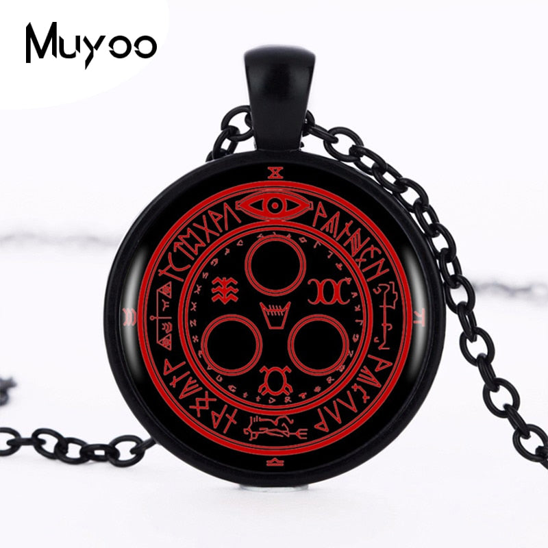 1pcs/lot Hot Sale Silent Hill Halo Of The Sun Logo Pendant Necklace Handmade Vintage Round Black Necklace Women Jewelry HZ1 - Hip and Trendy Home
