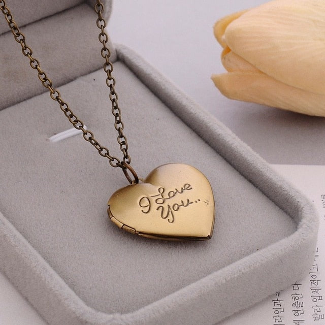 crystal Medal Original Handmade Simple Six-color DIY Love Metal Carving Necklace Retro secret Pendant Photo Frame Custom Jewelry - Hip and Trendy Home Decor & More