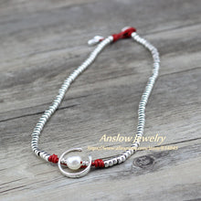 Load image into Gallery viewer, Anslow Fashion Jewelry Handmade Silver Beads Charm Wrap Moon Shape Imitational Pearls Women Party Necklace Jewelry LOW0047AN - Hip and Trendy Home Decor & More