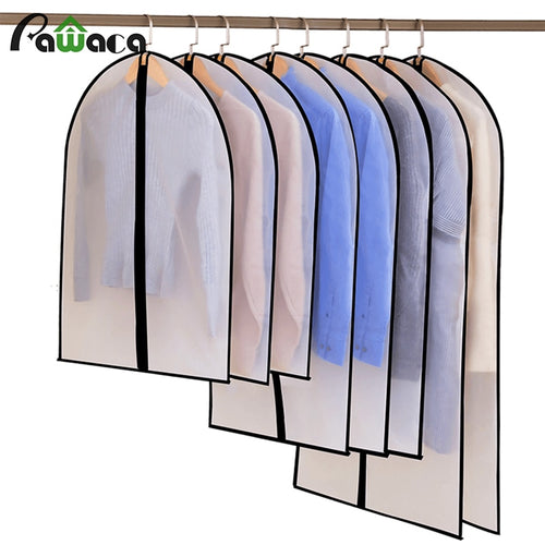 6pcs/set Clothing Covers Clear Suit Bag Moth Proof Garment Bags Breathable Zipper Dust Cover Storage Bags for Suit Dance Clothes - Hip and Trendy Home Decor & More