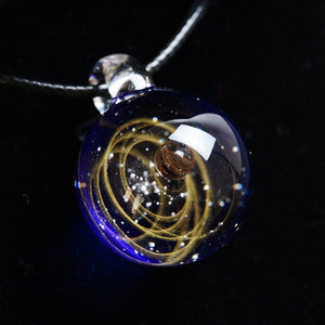 New arrival Handmade Glass Nebula Cosmic Galaxy Pendant Necklace Lucky Men Women Couple Jewelry Valentine's Day Present Gift - Hip and Trendy Home Decor & More