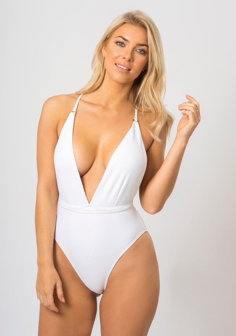 Topaz Swim Sienna Luxe Swimsuit in Diamond White