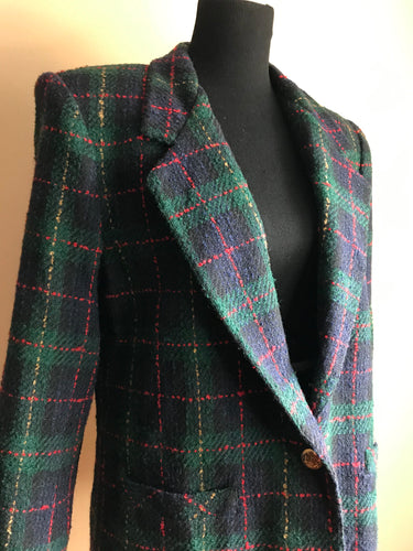 School Girl Plaid Blazer (Sml/Med)