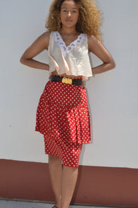 Silk Polka Dot Skirt (Med)