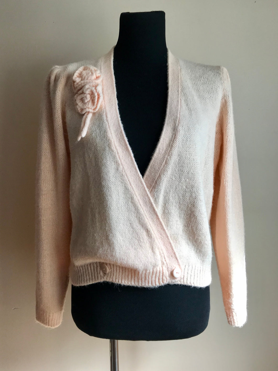 Vintage 80's Powder Pink Wrap Sweater (one size)