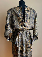 Load image into Gallery viewer, Snakeprint Peplum Dress (Med)