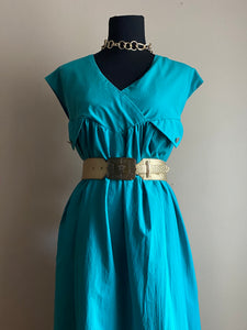 Teal Maxi Dress (Plus Size)
