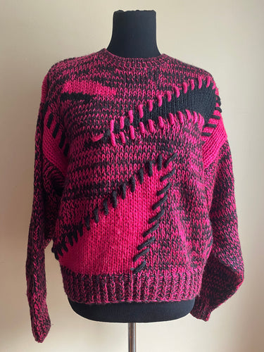 80's Fuschia Sweater (Sml)